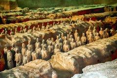 XI `, PROVINCIA DE SHAANXI, CHINA - 23 DE OCTUBRE DE 2007: El Terracott Imagen de archivo libre de regalías