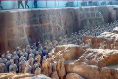 XI `, PROVINCIA DE SHAANXI, CHINA - 23 DE OCTUBRE DE 2007: El Terracott Fotografía de archivo libre de regalías