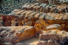 XI `, PROVINCIA DE SHAANXI, CHINA - 23 DE OCTUBRE DE 2007: El Terracott Fotos de archivo libres de regalías