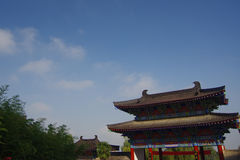 Xi 'an qinling, south five ancient buildings of the scenic spot. Stock Photography