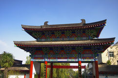 Xi 'an qinling, south five ancient buildings of the scenic spot. Royalty Free Stock Photos