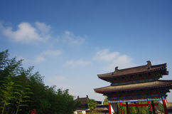 Xi 'an qinling, south five ancient buildings of the scenic spot. The south five is a famous national geol Stock Photos