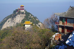 Xi 'an qinling, south five ancient buildings of the scenic spot. The south five is a famous national geol Stock Photo