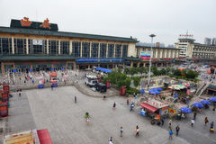 Xi'an railway station Royalty Free Stock Photos