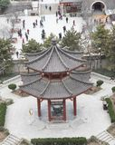 View of traditional pavilion from the Goose Pagoda - Imagen stock photo