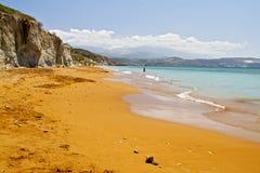 ?Xi? strand bij eiland Kefalonia in Griekenland Royalty-vrije Stock Foto