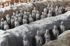 XI `, Terra Cotta Warriors Stockbild