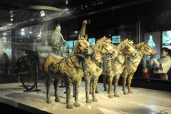 Xi'an, Terra Cotta Warriors ici Images stock