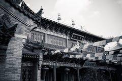 ` Xi un'architettura cinese antica del tempio di Guangren Fotografia Stock