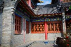 ` Xi un'architettura cinese antica del tempio di Guangren Immagine Stock