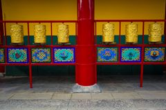 ` Xi un'architettura cinese antica del tempio di Guangren Fotografie Stock