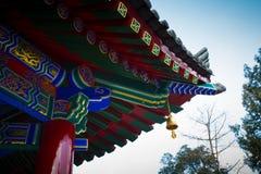` Xi un'architettura cinese antica del tempio di Guangren Immagini Stock
