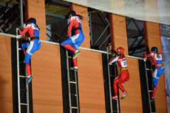 XI World Championship in Fire and Rescue Sport in St. Petersburg, Russia Stock Photos