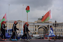 XI World Championship in Fire and Rescue Sport in St. Petersburg, Russia Royalty Free Stock Images