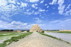 Xia Imperial Tombs occidentale province dans Yinchuan, le Ningxia, Chine image libre de droits