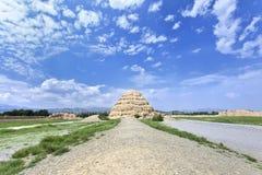 Xia Imperial Tombs ocidental província em Yinchuan, Ningxia, China imagem de stock royalty free