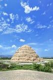 Xia Imperial Tombs ocidental província em Yinchuan, Ningxia, China imagem de stock
