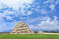 Xia Imperial Tombs ocidental província em Yinchuan, Ningxia, China fotos de stock