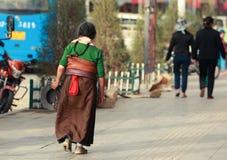 Xiahe, de Cultuurgebied van Tibet, Gansu, China royalty-vrije stock afbeelding
