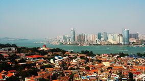 Xiamen. Travel in China. Taken location is on Gulangyu Island,  from Xiamen, China Royalty Free Stock Images