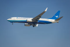 Xiamen Airlines-Vliegtuig Stock Foto