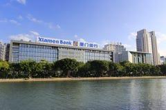 Xiamen bank yuandang jeziorem Fotografia Royalty Free