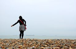 Xiamen. The beach and Royalty Free Stock Images