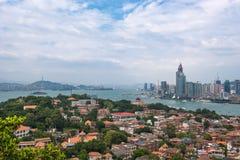 Xiamen City in sunshine Stock Image
