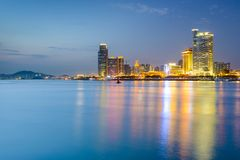 Xiamen, China City Skyline Stock Photography