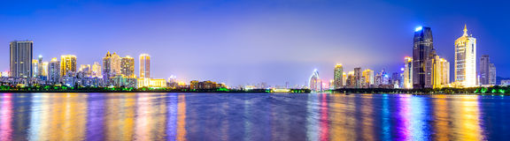 Xiamen, China City Skyline Stock Photo