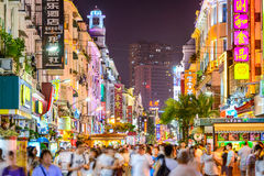 Xiamen, China Pedestrian Road Stock Image