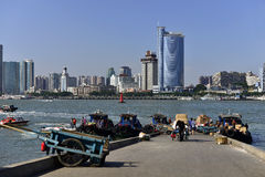 Xiamen City and the harbour Stock Image
