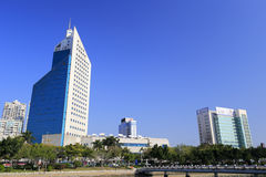 Xiamen city radio and television building Stock Images