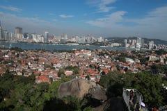 Xiamen panoramic scenery , aerial view from gulangyu island royalty free stock photos