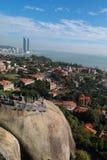 Xiamen panoramic scenery , aerial view from gulangyu island stock photography