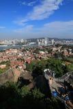 Xiamen panoramic scenery , aerial view from gulangyu island royalty free stock image