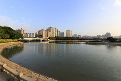 Xiamen cityscape at afternoon. Xiamen city scenery, amoy city, china Royalty Free Stock Photography
