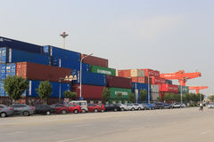 Xiamen container terminal, china Royalty Free Stock Photos