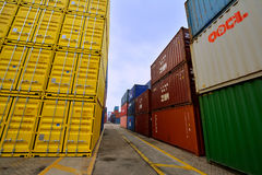 Xiamen container yard, Fujian, China Stock Photography