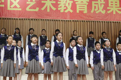 Xiamen deep blue children's choirs in performance Stock Photography