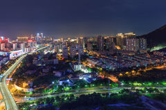 Xiamen East Mountain Villa BRT Evening, China Stock Photo