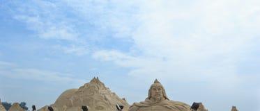 Xiamen Guanyinshan piaska rzeźby Kulturalny park Zdjęcie Royalty Free