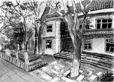 Xiamen gulangu house sketch Stock Image