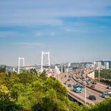 Xiamen haicang bridge in daytime closeup Royalty Free Stock Photography