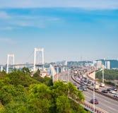 Xiamen haicang bridge in daytime Stock Photo
