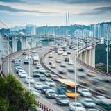 Xiamen haicang bridge at dusk closeup Royalty Free Stock Photography