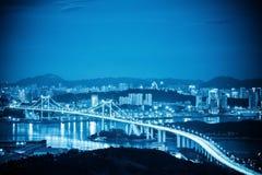 Xiamen haicang bridge at night Royalty Free Stock Photo
