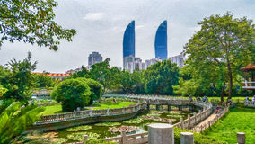 Xiamen high rise buildings Royalty Free Stock Images