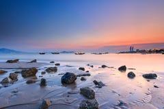 Xiamen Huandao Road Seascape Sunset, China Stock Photo