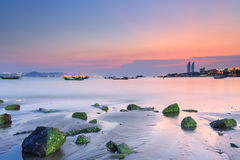 Xiamen Huandao Road Seascape Sunset, China Stock Photo